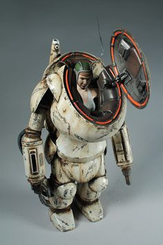 Original creations and customs by Kevin Derken (klav) Armor Concept, Concept Art, Arte Steampunk, Sci Fi Models, Robot Design, Gundam Model, Sci Fi Art, Dieselpunk, Scale Models