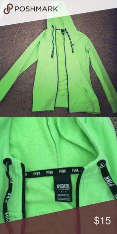VS pink zip up Used Neon green zip up PINK Victoria's Secret Jackets & Coats