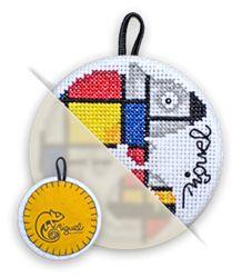 Mondrian ! LA tenue pour Miguel à broder au point de croix - 10€ le kit complet