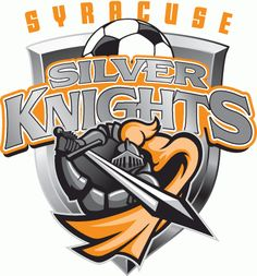 Syracuse Silver Knights, Major Arena Soccer League, Syracuse, New York Canada Soccer, Silver Knight, Knight Logo, Green Knight, Word Mark Logo, Soccer Logo, Sports Team Logos, Team Mascots, Soccer League