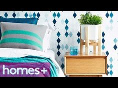 DIY: Wooden Cross Pot Plant Stand - homes+ - YouTube
