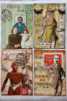 Lululiz in Lalaland: atc swap Postage People 2015 swap Collages, Collage Art, Altered Books, Blog Art, Art Trading Cards, Postage Stamp Art, Envelope Art, Postcard Art, Mail Art