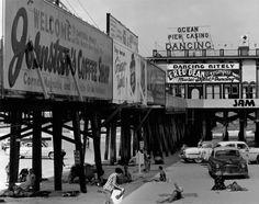 Boardwalk & Beach - Daytona Beach, Florida - 1953 .... my favorite times were spent here growing up