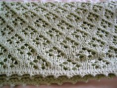 Ravelry: Elven Pixie Baby Blanket pattern by Tall Gal Knits- free pattern, dl'd