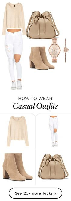 """Casual"" by princessbritanya on Polyvore featuring Yves Saint Laurent, H&M, Nina Ricci and Michael Kors"