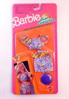 Barbie Sun Sensation Fashion 2932 Mattel 1991 Read Shipping | eBay