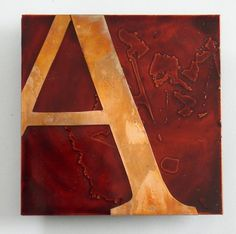 Shoply.com -Copper Red Letter A Metal Art 4 in. Only $38.00