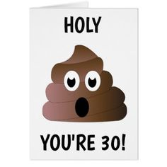 YOU'RE 30 CARD - giftidea gift present idea number thirty thirtieth bday birthday 30thbirthday party anniversary 30th