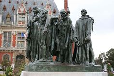 Ferdinand Barbedienne : Auguste Rodin, The Burghers of Calais, smelted by Leblanc-Barbedienne in 1889 and inaugurated in Calais in Camille Claudel, Famous Sculptures, Photos Voyages, Architectural Antiques, Auguste Rodin, Paris City, True Art, Modern Sculpture, World's Fair