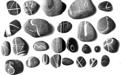 Pebble alphapbet by Italo Lupi -- Laura Norford Illustration: Some interesting typography