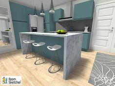 Mini Kitchen, New Kitchen, Kitchen Island, Galley Kitchens, Luxury Kitchens, Kitchen Trends, Kitchen Ideas, Kitchen Layout, Kitchen Design