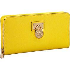 MICHAEL Michael Kors Hamilton Large Zip Around Wallet Citrus