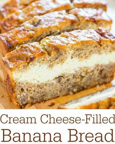 Creme Cheese filled Banana Bread! DELICIOUS!