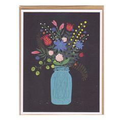 Card - Mason Jar Flowers Gift Card