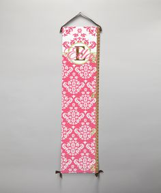BronStar Originals Pink Damask Personalized Growth Chart