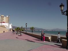Sabinillas Paseo Maritimo or promenade in Manilva, Costa del Sol, Spain.  A great place to walk along, ride your bicycle or rollerskate.