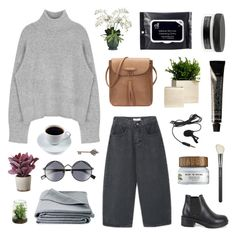 """""""he looks so peace when he's sleeping"""" by ruthaudreyk ❤ liked on Polyvore featuring MAC Cosmetics, Torre & Tagus, JAG Zoeppritz, Davines, Le Specs, Grown Alchemist, Allstate Floral and e.l.f."""