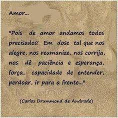 Poemas e Versos : Carlos Drummond de  Andrade - Amor