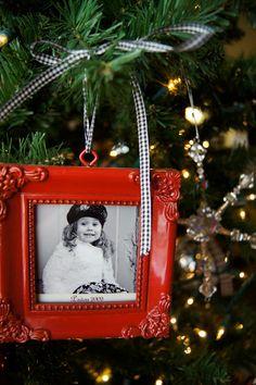 dollar store frame ornament
