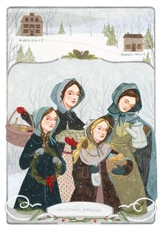 One of Rebecca Green's charming images of the March sisters for our edition of Little Women