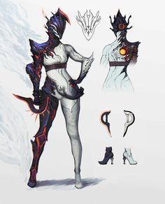 A Lone Tenno — Ember Deluxe skin concept art from the Devstream. Character Concept, Character Art, Concept Art, Ronin Samurai, Warframe Art, Arte Ninja, Sci Fi Characters, Warframe Characters, Futuristic Art