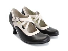 Fluevog Shoes - Item detail: Pearl Hart. Another lovely black/off-white shoe :)