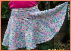 twirly girl skirt knitting pattern