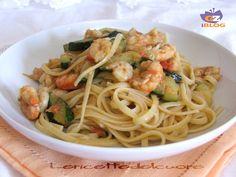 Pasta+zucchine+e+gamberetti+ricetta+semplice