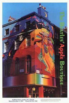 THE BEATLES APPLE BOUTIQUE ART : THE FOOL 1968 LONDON