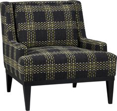 Donegal Chair in New Furniture | Crate and Barrel // I love this damn chair.  It would work with our living room colors, but the pattern would clash with another chair of ours.