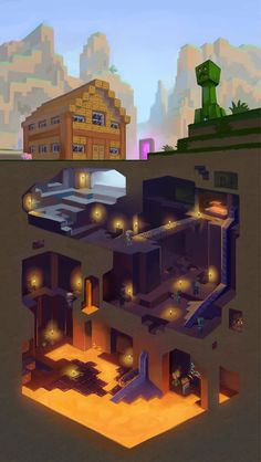 Kids could make a minecraft version of layers of earth/ atmosphere / or even cell structure