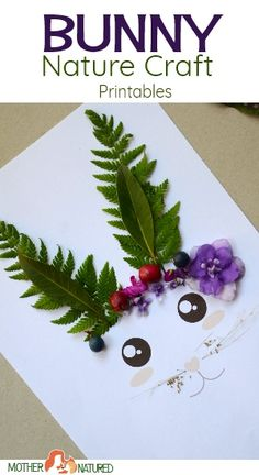 Beautiful Easter Bunny Nature Craft Printables for Kids