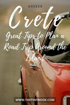 Fool-proof and flexible guide to plan a road trip in Crete: Tips and suggestions to better tour Crete island by car, including maps and photos. Travel Europe Cheap, Travel Through Europe, Peru Travel, Europe Travel Guide, Backpacking Europe, European Travel, Road Trip Packing, Road Trip Hacks, Plan A