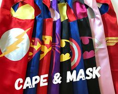 Superhero Party Favors Birthday Kids Capes Bulk Ready to Ship!