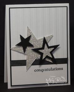 Stars congrats glitter embossing folder awesomeness