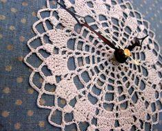 crochet art horloge