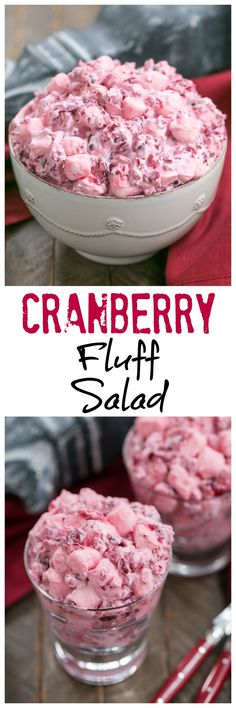 Cranberry Fluff Salad | A simple version of this Thanksgiving classic! @lizzydo