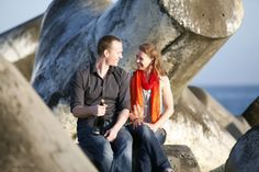 Outdoor engagement session in Santa Cruz Seabright Beach