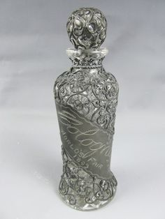 1893 Chicago World'S Fair Cologne Bottle Metal Clad Glass | eBay