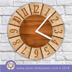 When You're In A Hurry, This Article About Woodworking Is Perfect - Nice Woodworking Tips Clock Template, Craft Projects, Projects To Try, Clock Parts, Scroll Saw Patterns, Woodworking Tips, Be Perfect, Laser Cutting, Free Design