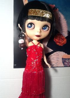 "https://flic.kr/p/scFzjc | Blythe-a-Day May #3 Girls Rock: Performer LaVern La Rue | LaVern was customized by Zaloa's Studio; her dress is from Doll_Studio. LaVern reflects on the Jazz Age: ""When I look back, I realize that we girls were stronger than I even realized at the time. To us, hard work was a given and giving up was not an option."" ""So many of my friends and I were trying to make it in incredibly difficult fields: Alexandrina, who was mentoring my cousin Juliette, in dancing…"