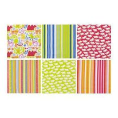 'Barnslig' colorful textile prints by Ikea Curtain Fabric, Drapes Curtains, Sitting Cushion, Playroom Flooring, Ikea Baby, Green Fabric, Textile Prints, Blue Stripes, Printing On Fabric
