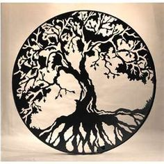 This is one version of the Celtic symbol for the Tree of Life. My family is of Irish decent and I've always really respected that. The Celts believed that the tree was not an inanimate object, but a living being that provided food, fuel and shelter. It also symbolized rebirth which the Celts believed in spiritual meanings behind the seasonal changes. I think these are beautiful reasons to respect life and nature.