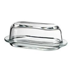 IKEA RULAD butter dish Dishwasher-safe; easy to keep clean.