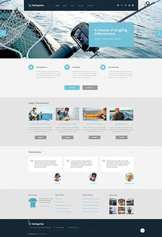 Template 50743 - Fishing Sport WordPress  Theme