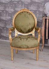 Poltrona Salone Sedia Barocco Vintage Con Braccioli Stile Antico
