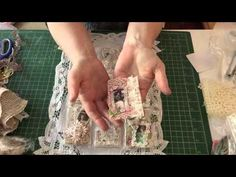 Shabby chic fabric and image pocket letter - YouTube