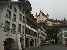 Thun Castle Switzerland, Castle, Louvre, Street View, Building, Travel, Viajes, Buildings, Castles