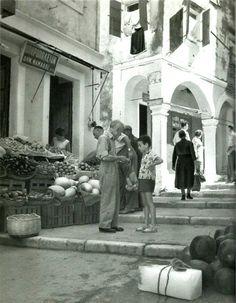 Κέρκυρα δεκαετία ΄60...Ανάρτηση Bernard Flament (1) Corfu Greece, Athens Greece, Hillside Village, Greece History, Corfu Town, Corfu Island, Cypress Trees, Greece Islands, Old Photos