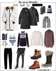 Iceland: Packing Guide - fly away blondie Winter Travel Outfit, Winter Fashion Outfits, Chic Outfits, Winter Travel Packing, How To Have Style, My Style, Sorel Joan Of Arc, Apres Ski Outfits, Snow Outfit